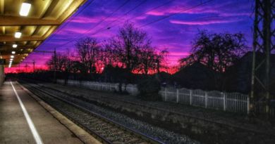 Napkelte a gyömrői vasútállomáson