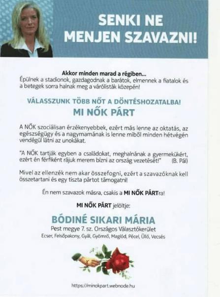 Mi Nők Párt, Bódiné Sikari Mária